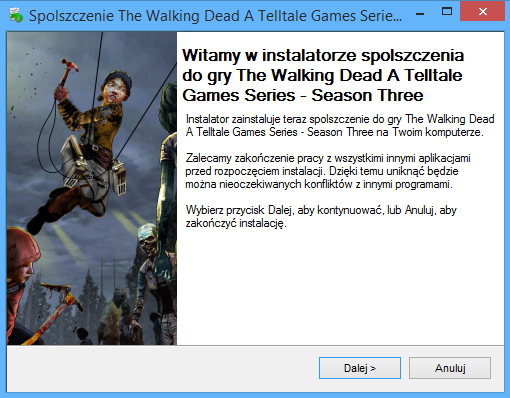 The Walking Dead A Telltale Games Series - Season Three spolszczenie