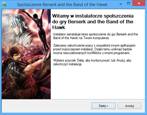 Berserk and the Band of the Hawk spolszczenie