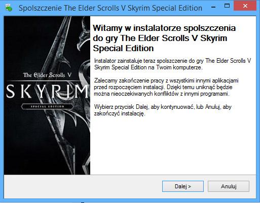 The Elder Scrolls V Skyrim spolszczenie