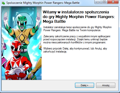 Mighty Morphin Power Rangers Mega Battle spolszczenie