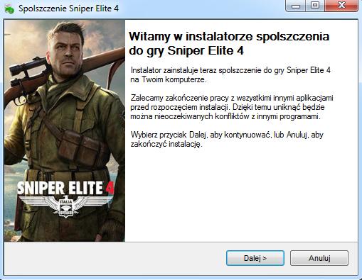 Sniper Elite 4 spolszczenie