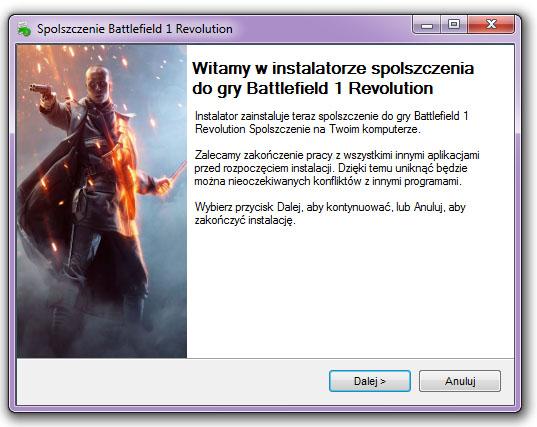 Battlefield 1 Revolution Spolszczenie