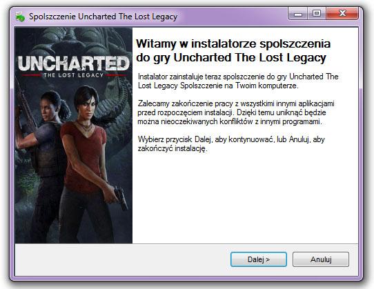 Uncharted The Lost Legacy Spolszczenie