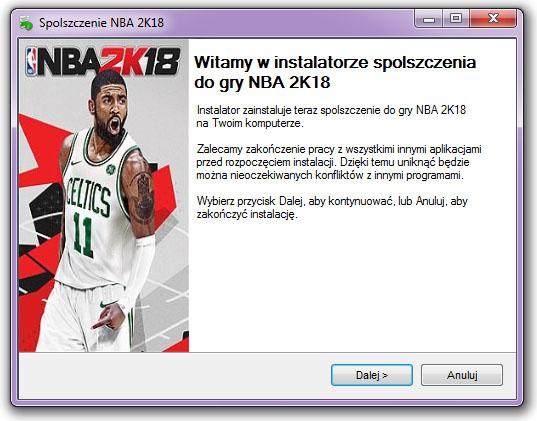 NBA 2K18 spolszczenie