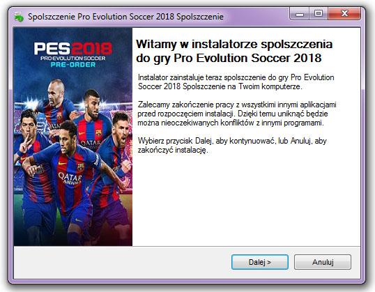 Pro Evolution Soccer 2018 Spolszczenie