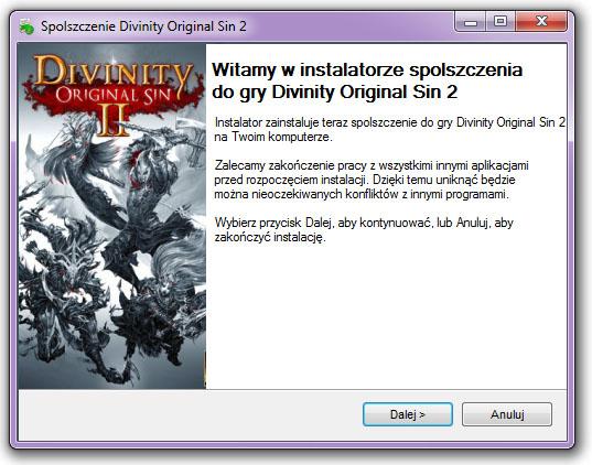 Divinity Original Sin 2 spolszczenie