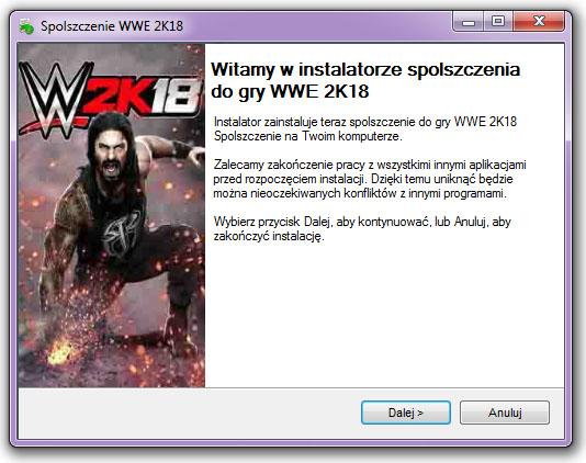 WWE 2K18 spolszczenie