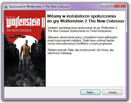 Wolfenstein 2 The New Colossus Spolszczenie