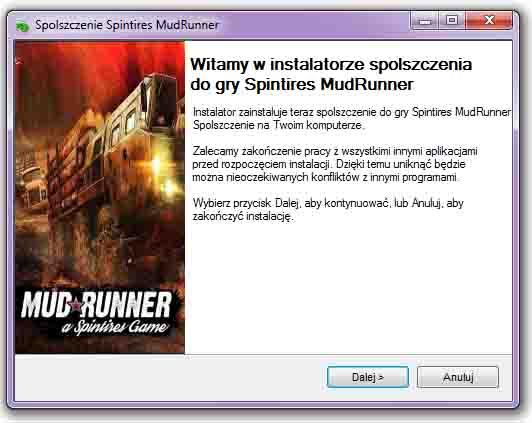 Spintires MudRunner Spolszczenie