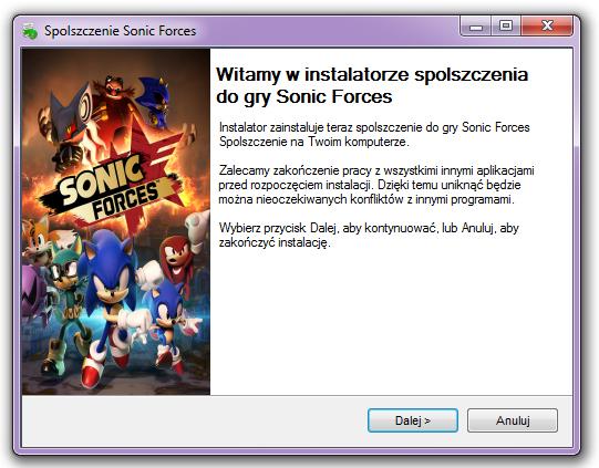 Sonic Forces Spolszczenie