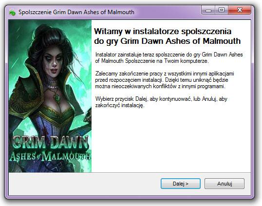 Grim Dawn Ashes of Malmouth spolszczenie