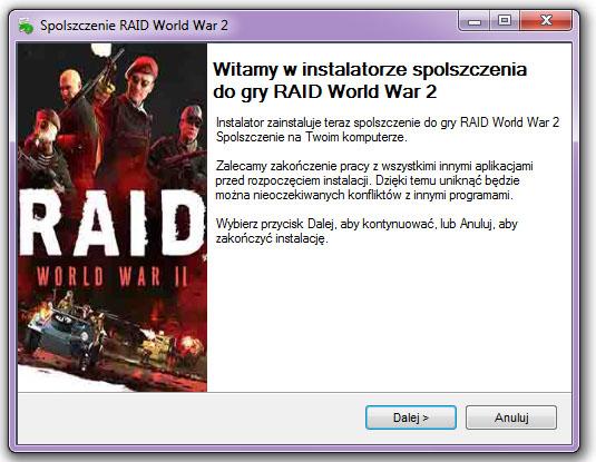 RAID World War 2 spolszczenie