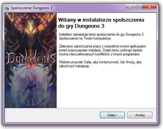 Dungeons 3 Spolszczenie