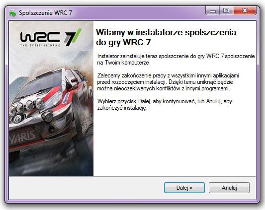 WRC 7 Spolszczenie
