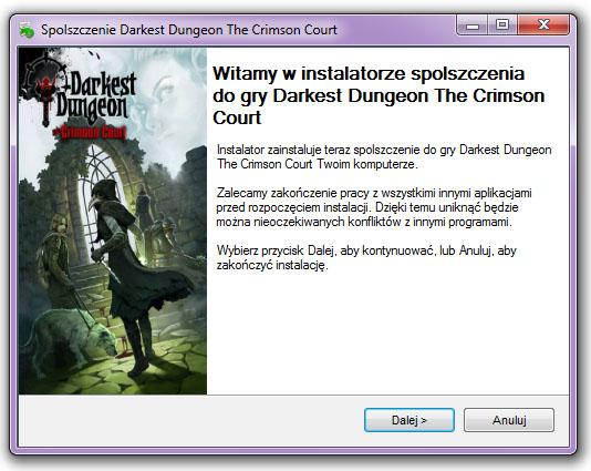 Darkest Dungeon The Crimson Court Spolszczenie