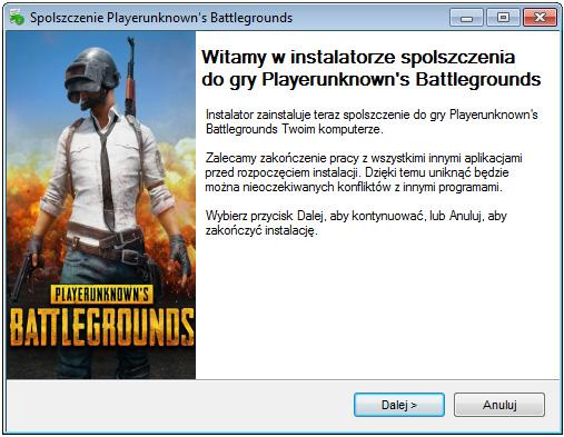 Playerunknown's Battlegrounds spolszczenie