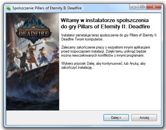 Pillars of Eternity 2 Deadfire Spolszczenie