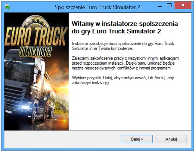 Euro Truck Simulator 2 spolszczenie