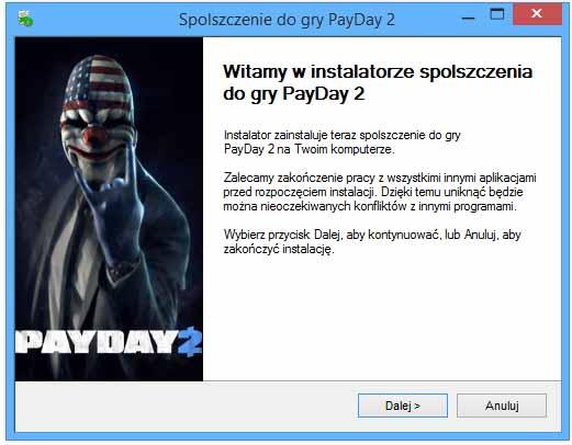 PayDay 2 spolszczenie